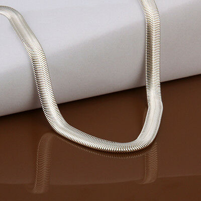 925 sterling solid silver 6MM snake chain Men Women necklace 16 - 30 inch LSN193 3