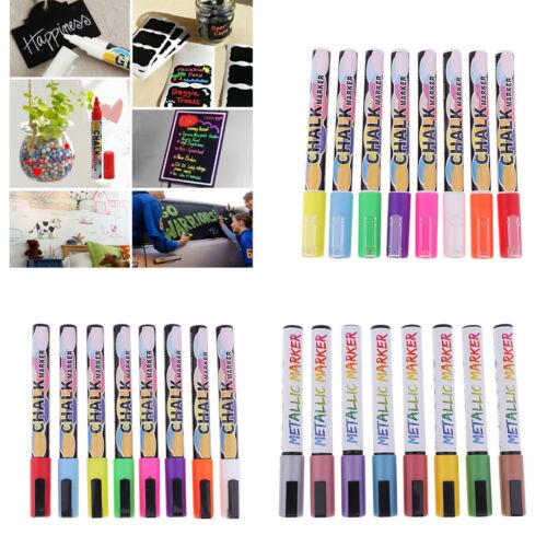 Generisch 8 Stueck Set leuchten Textmarker Stift fluessige Kreide Marker V1N2