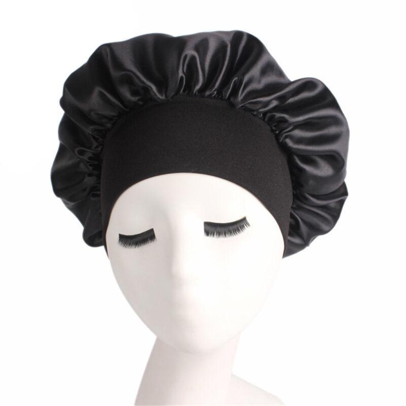 Long Hair Care Women Fashion Satin Bonnet Cap Night Sleep Hat Silk Cap Head Wrap 9