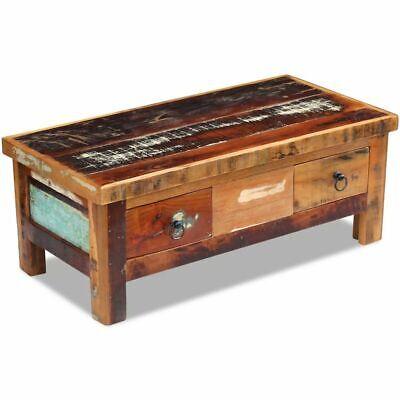 vidaXL Massivholz Couchtisch Beistelltisch Wohnzimmer Sofa Kaffee Tisch Antik 3