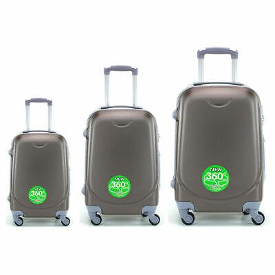 Juego de 3 maletas rigidas lisas de 4 ruedas giratoria 360 maleta equipaje viaje 6