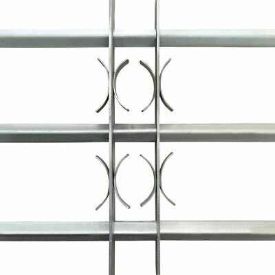 vidaXL Adjustable Security Grille for Windows with 3 Crossbars 700-1050mm Safe 3