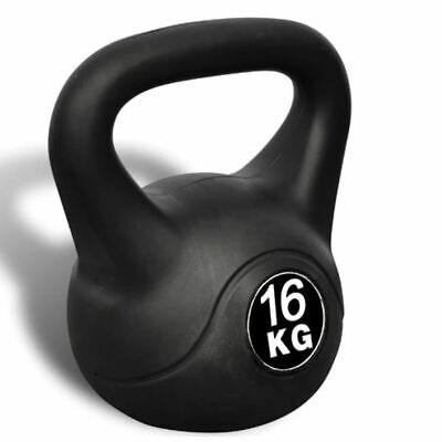 Pesa Rusa de 16 Kilos Negra Kettlebell Musculación Fitness Ejercicio Nuevo 3