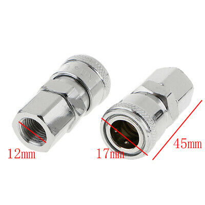 2X Schnellkupplung Adapter 11*11*33mm Druckluft Stecker Einstecknippel Adapter