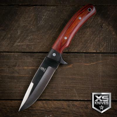"Buckshot 9"" Survival BUSH CRAFT Hunting RED WOOD Fixed Blade FULL TANG Knife 2"