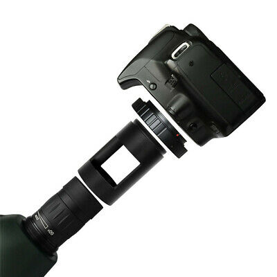 T Ring Spotting Scope Camera Adapter for Canon DSLR W/ Photography Sleeve M42 4
