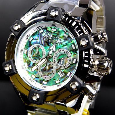 Invicta Reserve Grand Arsenal Octane Abalone Silver Full Size 63mm Watch New 12