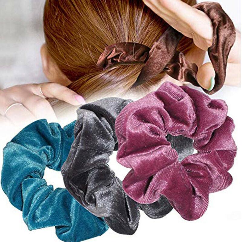 40Pcs Hair Scrunchies Velvet Elastic Hair Bands Scrunchy Hair Band 9 15 20pcs Ne 3