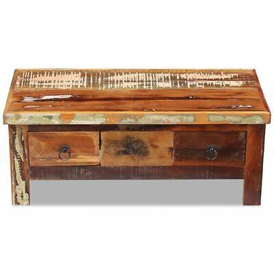 vidaXL Massivholz Couchtisch Beistelltisch Wohnzimmer Sofa Kaffee Tisch Antik 6