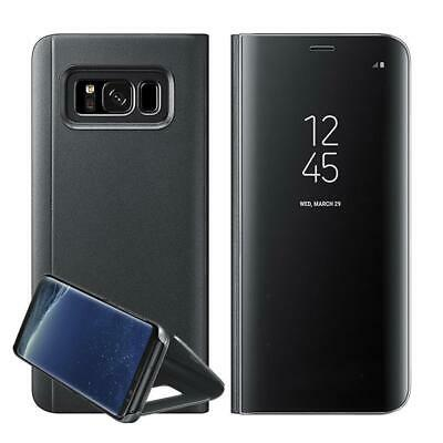 Case For Samsung Galaxy S7 S8 S9 Plus Smart View Mirror Wallet Flip Stand Cover 3