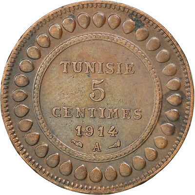 [#81416] TUNISIA, 5 Centimes, 1914, Paris, KM #235, EF(40-45), Bronze, 26, 4.98 2