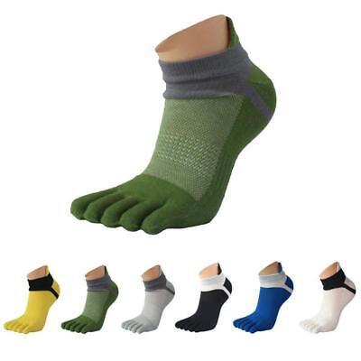 1/3/5Pairs Womens Men's Casual Cotton Toe Socks Winter Sports Five Finger Socks