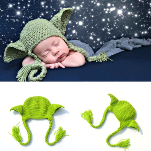 2ecd54bc4f098 5 Of 12 Newborn Baby Girls Boys Yoda Outfits Crochet Hat Baby Frog Costume  Photo Props Sc 1 St PicClick