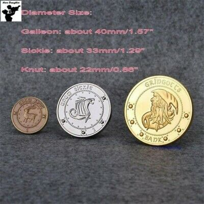 Hogwarts Gringotts Galleons Bank Coin Collection Harry Potter Coins 3 Pcs 3