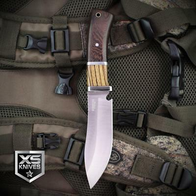 5PC Set Combat SURVIVAL Hunting Tactical BOWIE Wood Fixed Blade FULL TANG Knife 8
