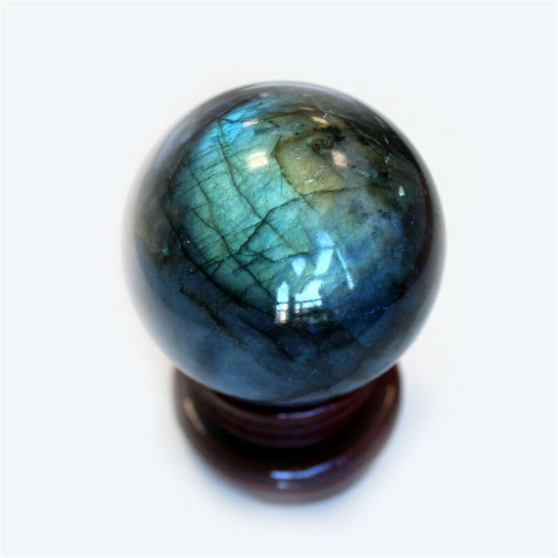 Natural Labradorite Rose Quartz Amethyst Sphere Crystal Ball Healing Citrine 9