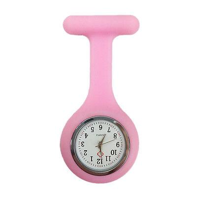 Silicone Nurse Watch Brooch Tunic Fob  Nursing Clip Pendant Pocket  Battery 12