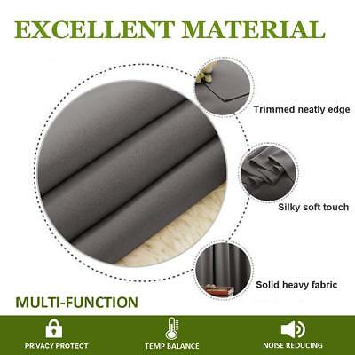 THERMAL BLACKOUT CURTAINS Eyelet Ring Top OR Pencil Pleat FREE Tie backs 9
