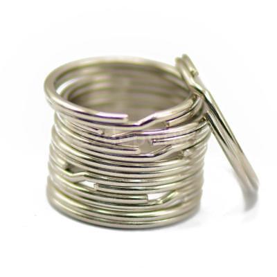 200PCS Key Rings Chains Split Ring Hoop Metal Loop Steel Accessories 25mm US 4