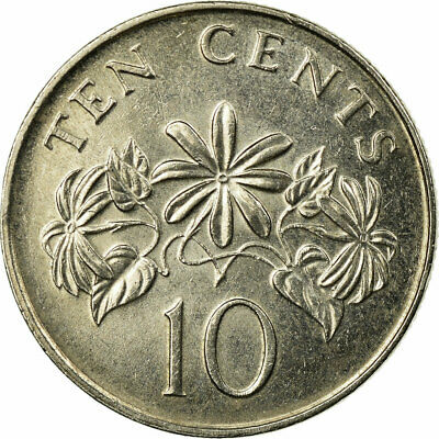 [#694782] Coin, Singapore, 10 Cents, 2005, Singapore Mint, EF(40-45) 2