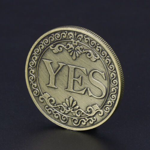 YES NO Letter Floral Commemorative Coin Ornaments Collection Arts Gifts Souvenir
