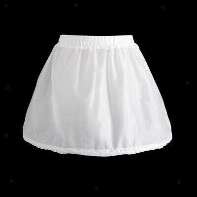 Girls 1 Hoop Tulle Wedding Flower Girl Short Chiffon Petticoat Underskirt 8