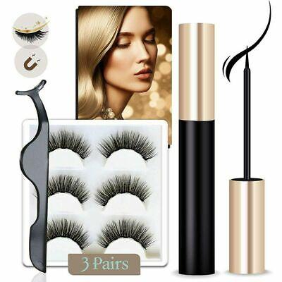 Magnetic Eyeliner Liquid & Lashes Kit - Set of 3 Mink Eyelashes Natural Long UK 3