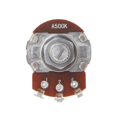 A500K OHM Metal Audio POTS Potentiometer 24mm Base Replace for Electric Guitar 6