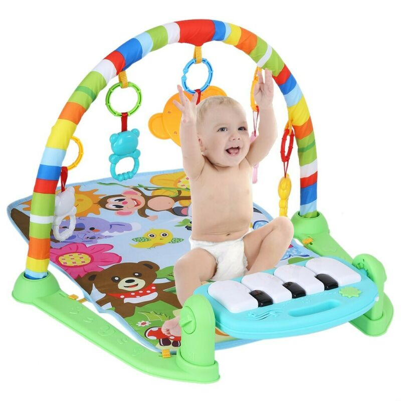 3 in 1 Baby Light Musical Gym Play Mat Lay & Play Fitness Fun Piano Boy Girl US 2