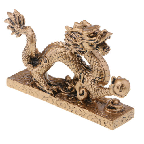 1 Piece Chinese Feng Shui Dragon Bronze Figurine Statue Luck & Success Gifts 7