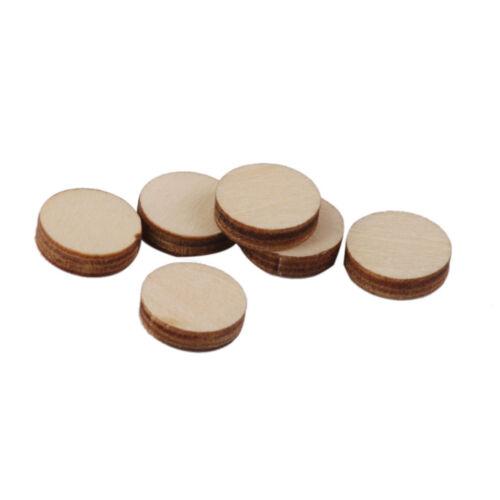 Unfinished Wooden Round Discs Embellishments DIY Rustic Art Crafts 10-50mm SVT