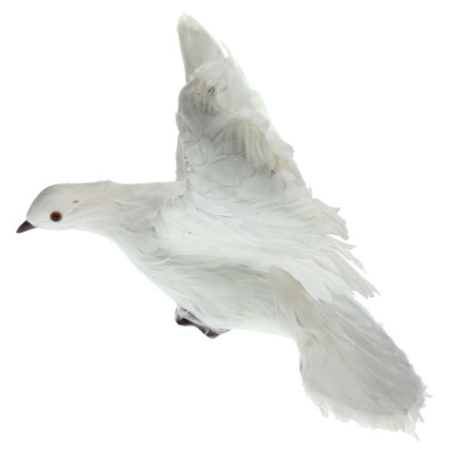 Fake Artificial Feather Bird Dove Open Wings Garden Home Decor Taxidermy #6