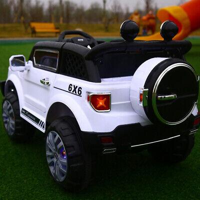 Auto Elettrica Per Bambini Macchina Jeep 2 Posti 4Wd 12V Con Telecomando Usb Mp3 9