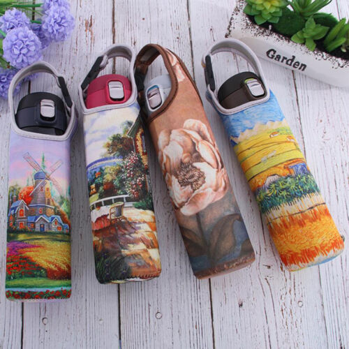 Sports 600ml Water Bottle Holder Sleeve Insulated Cover Carrier Windmill 3