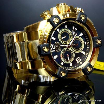 Invicta Reserve Grand Arsenal 63mm Swiss Movt Black MOP Gold Plated Watch New 4