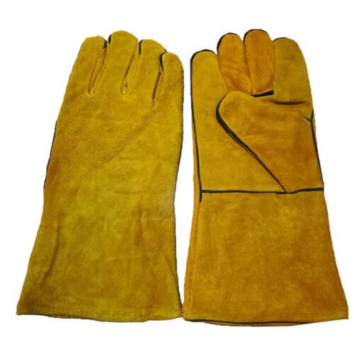 Welder Apron Welding Protective Gear Apparel Cowhide Leather Apron w/ Gloves 6