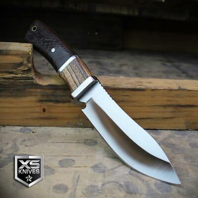 Combat SURVIVAL Hunting Tactical BOWIE Ornate Cherry Wood Fixed Blade Knife 12
