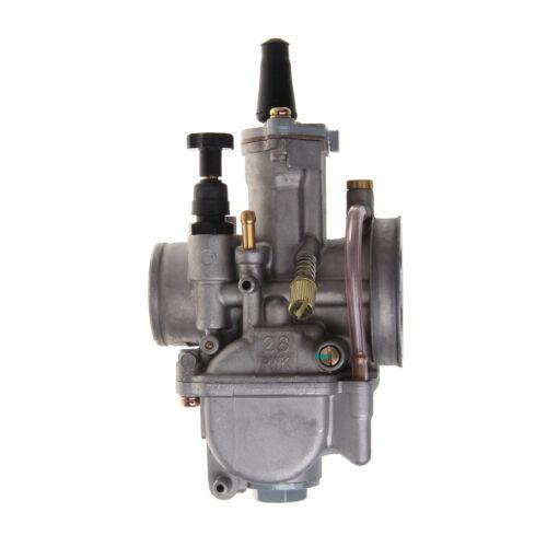 UNIVERSAL MOTORCYCLE 28MM Carburetor For Keihin Carb PWK Mikuni With Power  Jet