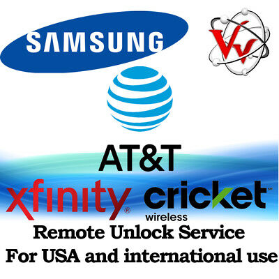 Samsung Galaxy S8 & S8 Plus Note 8 ATT, Cricket & Xfinity Remote Unlock Service 3