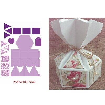 Pop-up 3D Box Metal Cutting Dies Stencil Scrapbook Album Embossing Card Making 9