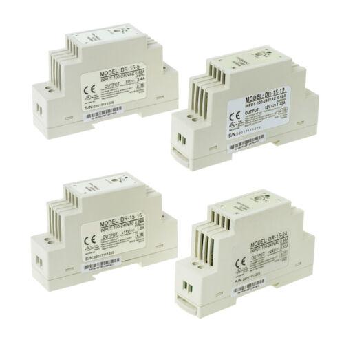 DR-15W Industrial DIN Rail Switching 5V 12V 15V 24V Power Supply 2
