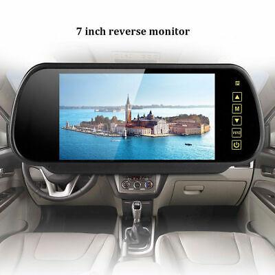 "Car Rear View Kit 7"" LED Mirror Monitor Reverse Parking IR 170° Reversing Camera 3"