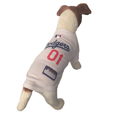 bef5bedfc6b ... MLB Pet Fan Gear LA LOS ANGELES DODGERS Dog Jersey Dog Shirt for Dogs  XS-