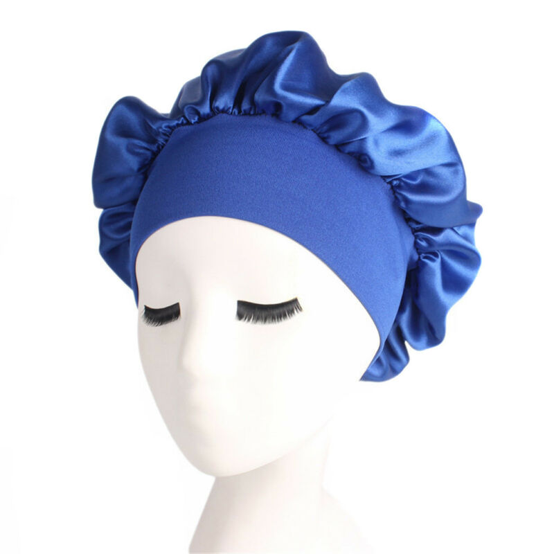 Long Hair Care Women Fashion Satin Bonnet Cap Night Sleep Hat Silk Cap Head Wrap 2