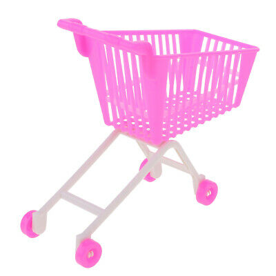5pc Pink Plastic Supermarket Cart Trolley Set for Doll Kelly Shopping 6