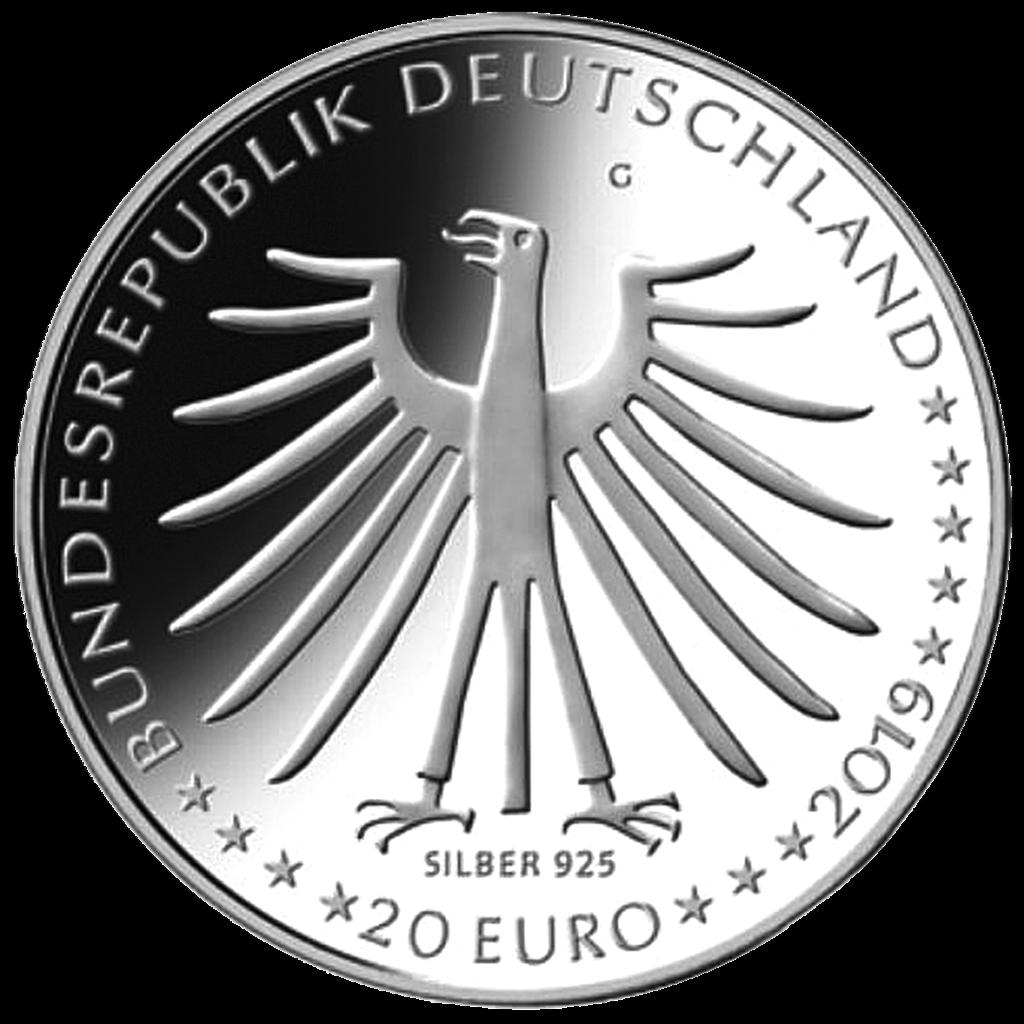 Deutschland 20 Euro 2019 - Das tapfere Schneiderlein - 18 gr Silber ST 2