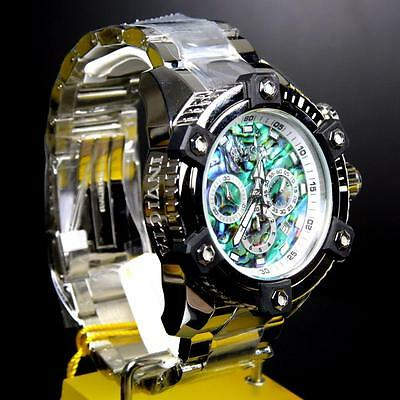 Invicta Reserve Grand Arsenal Octane Abalone Silver Full Size 63mm Watch New 11