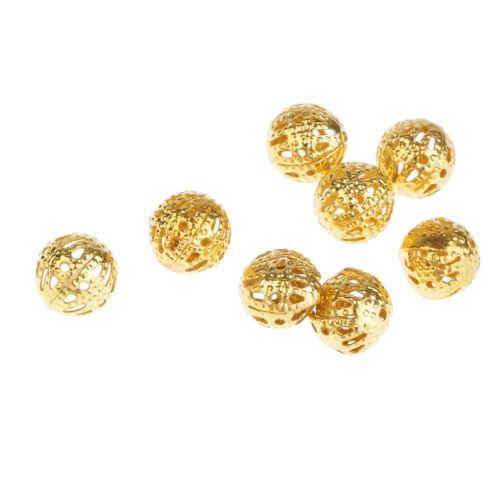 Metallperlen Metallspacer oval hohl silber//gold 5 Stück ERAJOSY