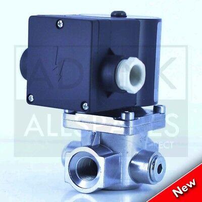 """Gas Solenoid Valve 1/2"""" for Gas Interlock System Shut Off Kitchen Canopy 15mm 2"""