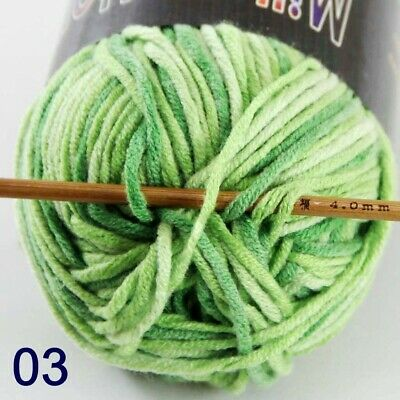 Men's Clothing Sale 1ballx50g Soft Cotton Baby Yarn New Hand-dyed Wool Socks Scarf Knitting